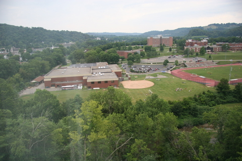 Wheeling Jesuit shot from Springhill Suites Hotel